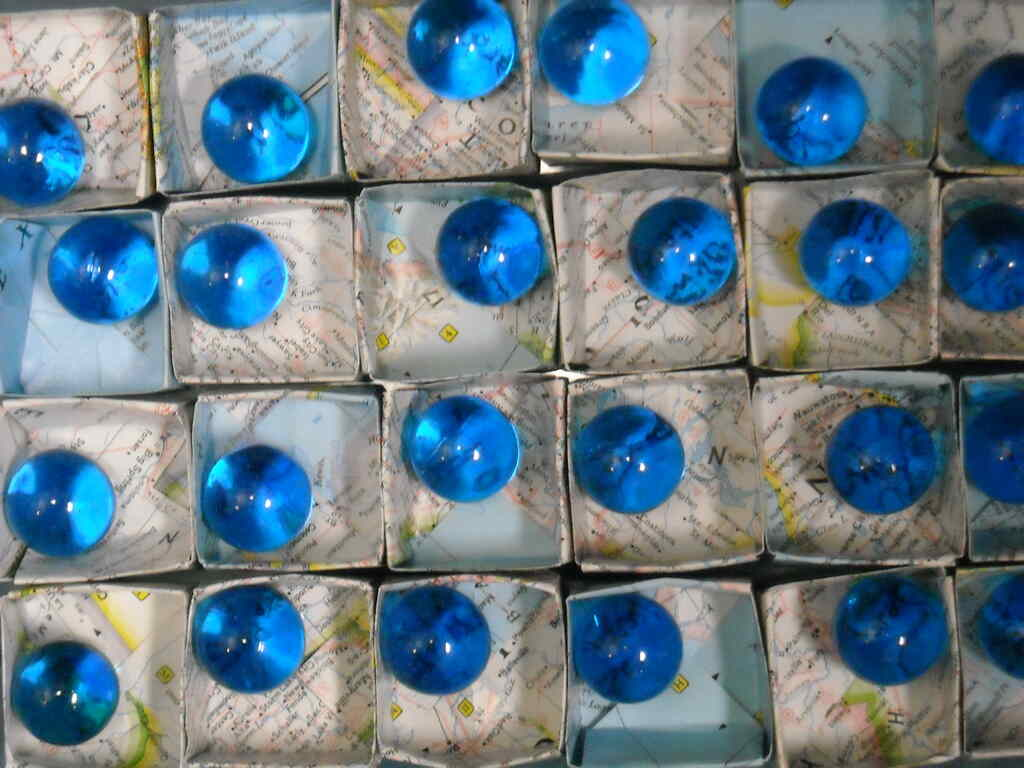 The Blue Marbles Project: Origami Map Boxes (2010)