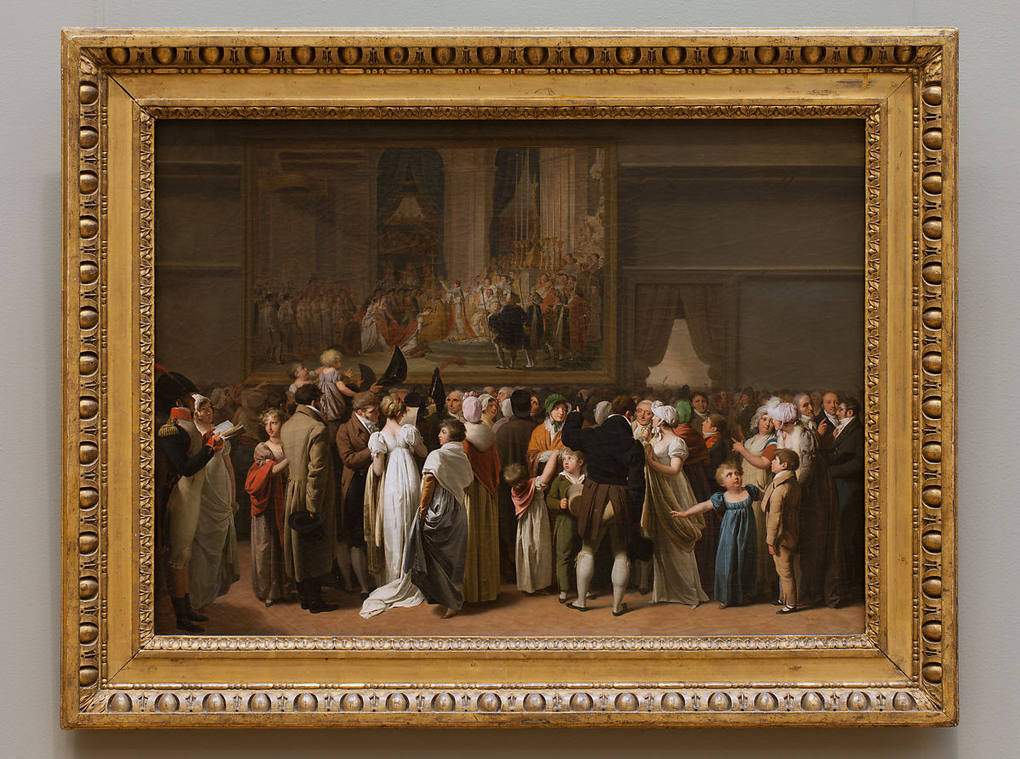 The Public Viewing David's Coronation at the Louvre