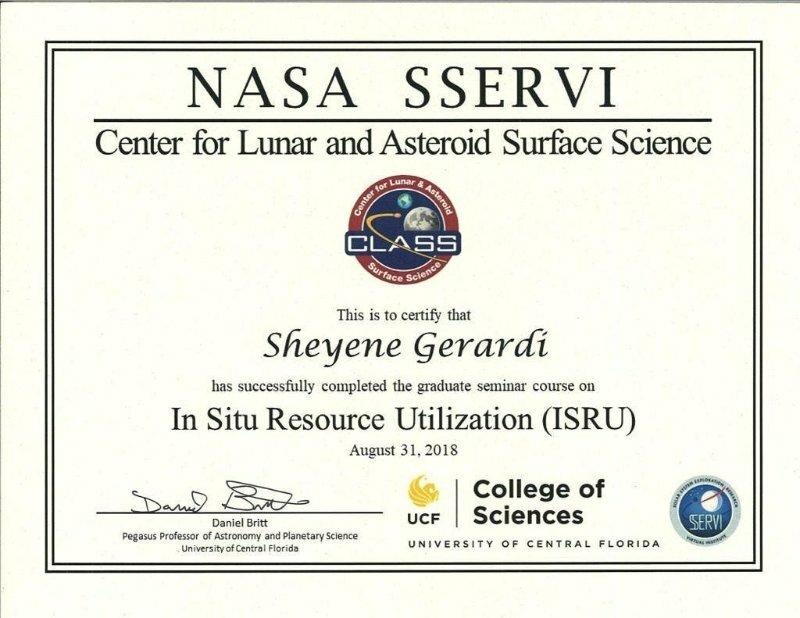 Sheyene Gerardi - NASA In Situ Resource Utilization (ISRU)