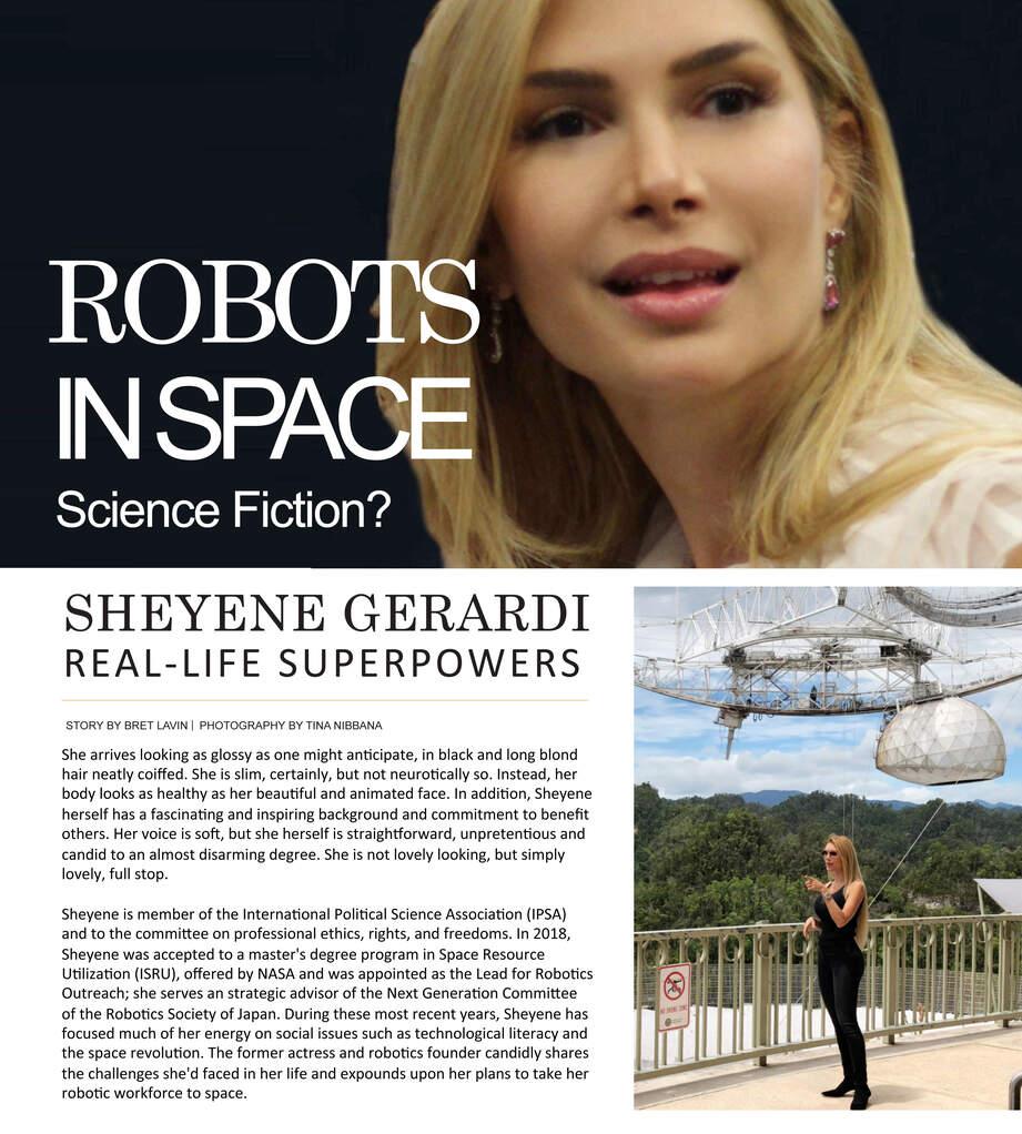 Sheyene Gerardi Robots in Space - Real-Life Superpowers