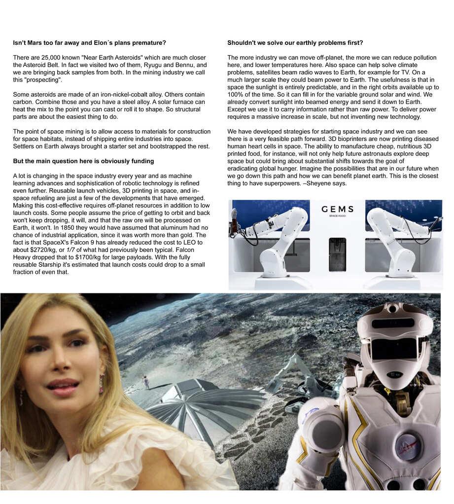 Sheyene Gerardi Robots In Space Real-Life Superpowers