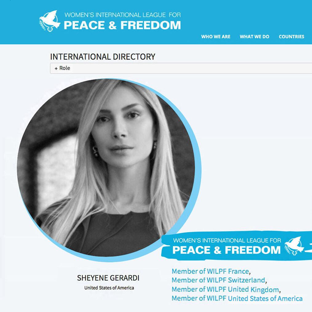 Women´s International League for Peace and Freedom - Sheyene Gerardi