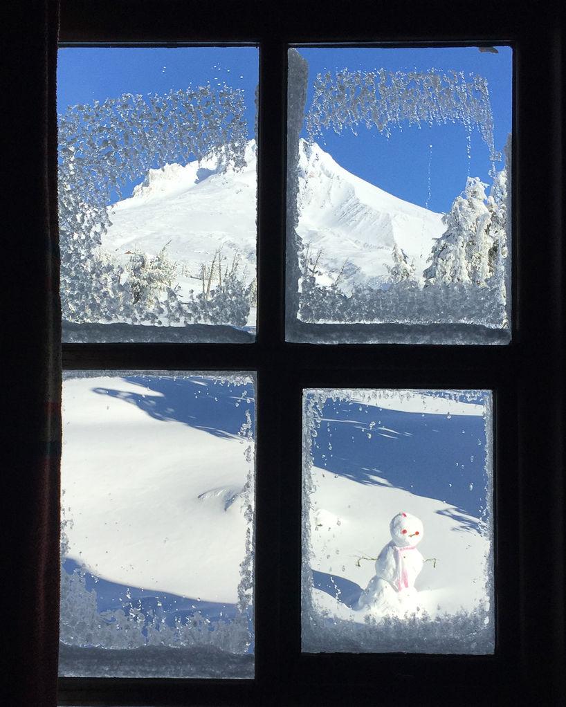 Through the window to Mt Hood