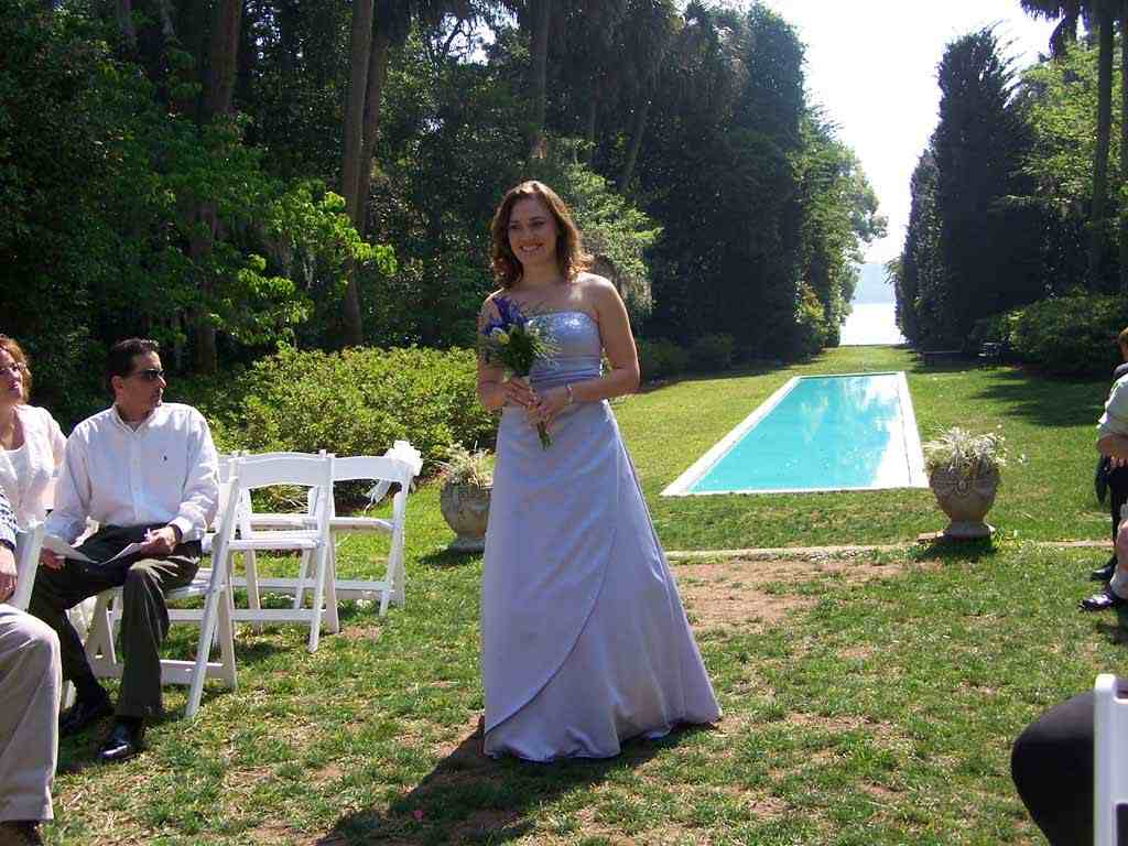 Maid of Honor in the wedding procession