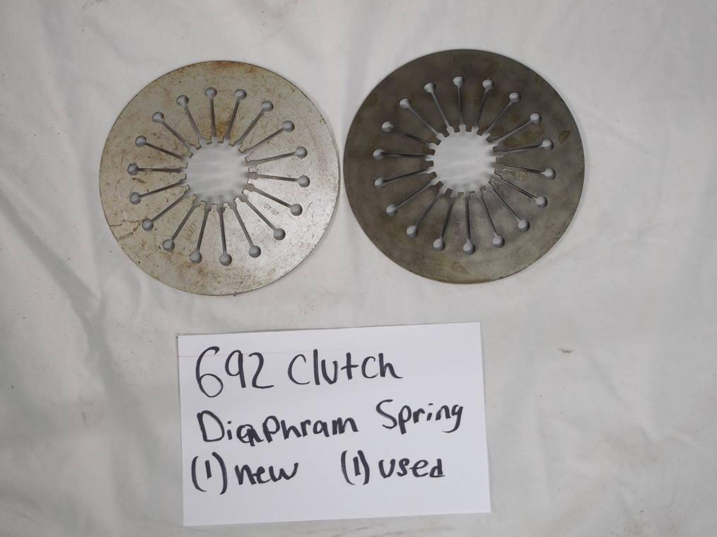692 Clutch diaphragm spring  (1) - New (1) - used