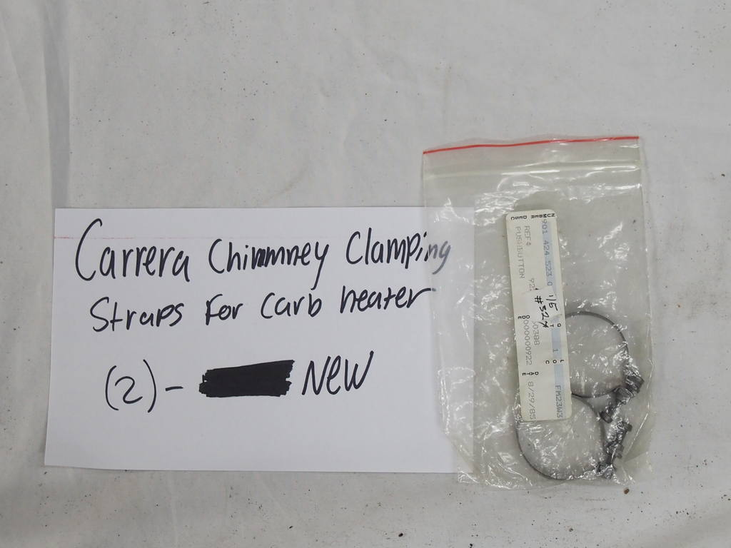 194 Carrera Chimney clamping straps for carb heater (2) - New