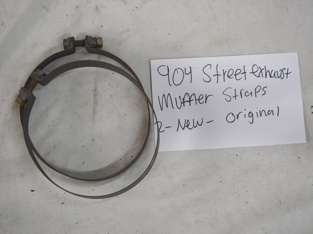 904 street exhaust muffler straps  (2) – New original
