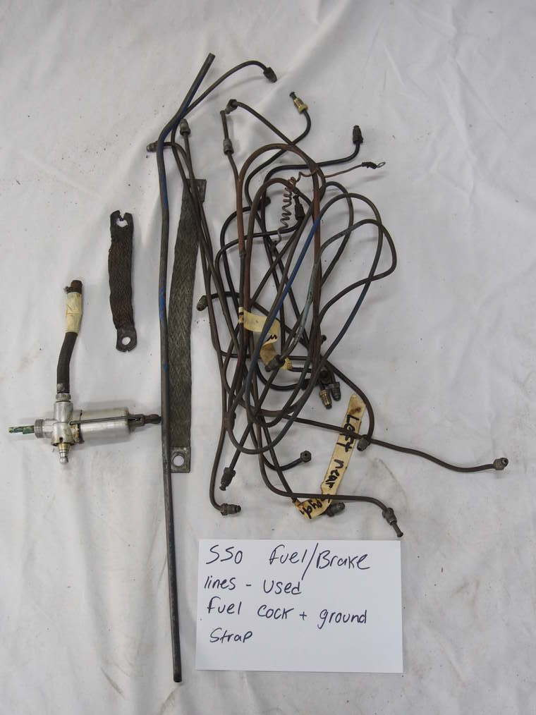 550 fuel/brake lines – Used  Fuel cock and ground strap