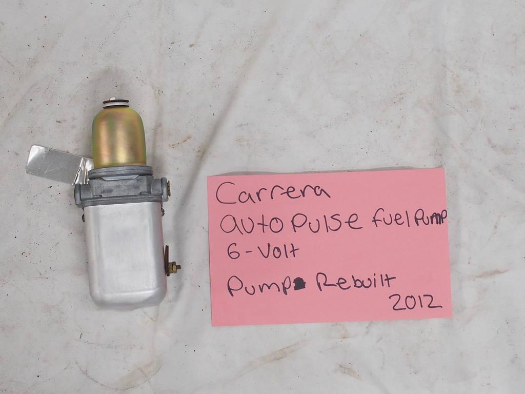 Carrera autopulse 6V fuel pump rebuilt 2012