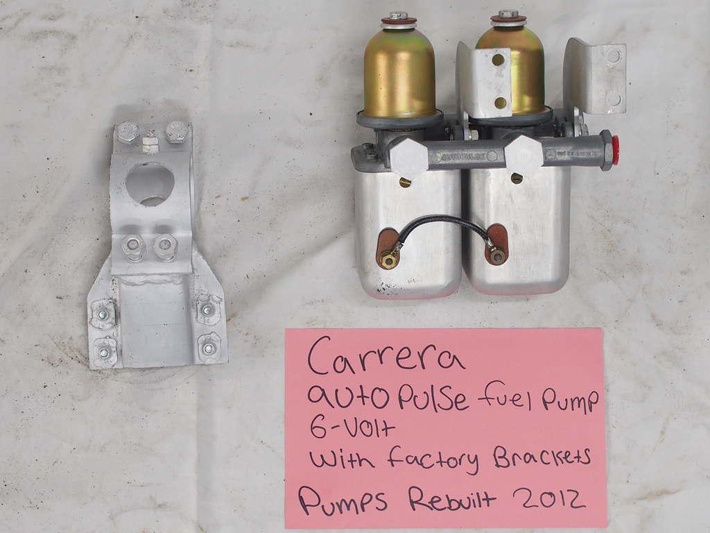 Carrera autopulse fuel pumps 6V rebuilt 2012 with factort brackets