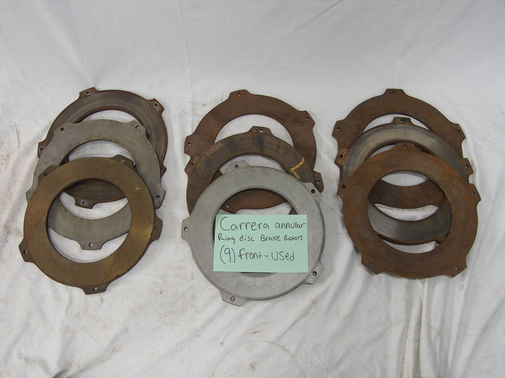 Carrera annular ring disc brake  rotors, (9) front- used