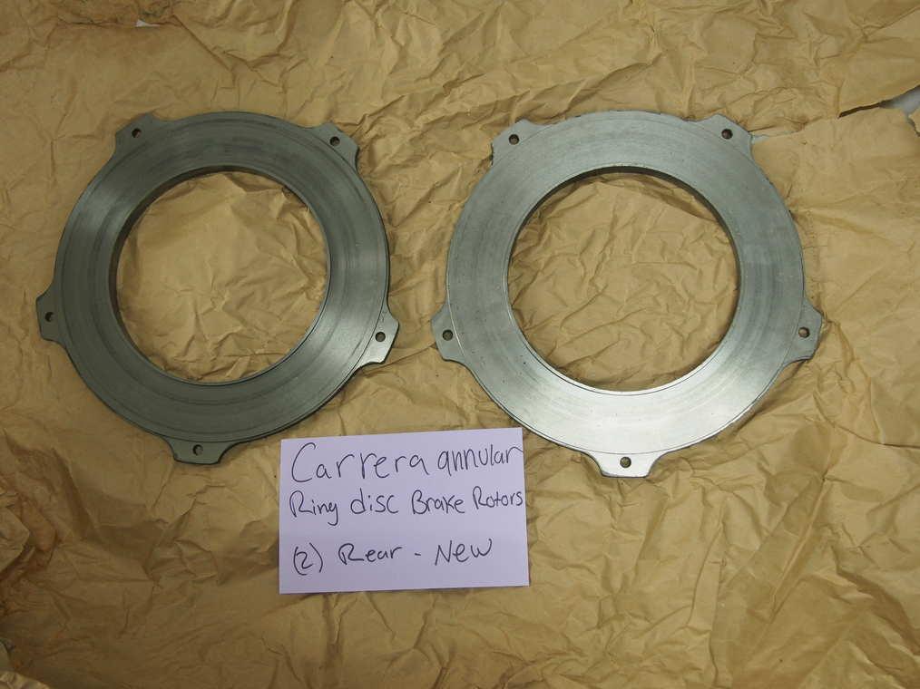 Carrera annular ring disc brake  rotors, (2) rear- new