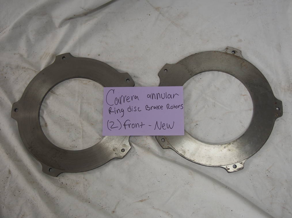 Carrera annular ring disc brake  rotors, (2) front- new