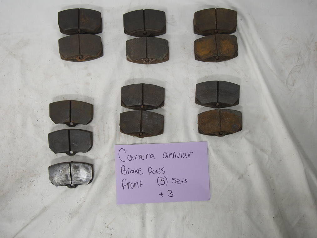 Carrera annular ring brake pads, front (6) sets + 2