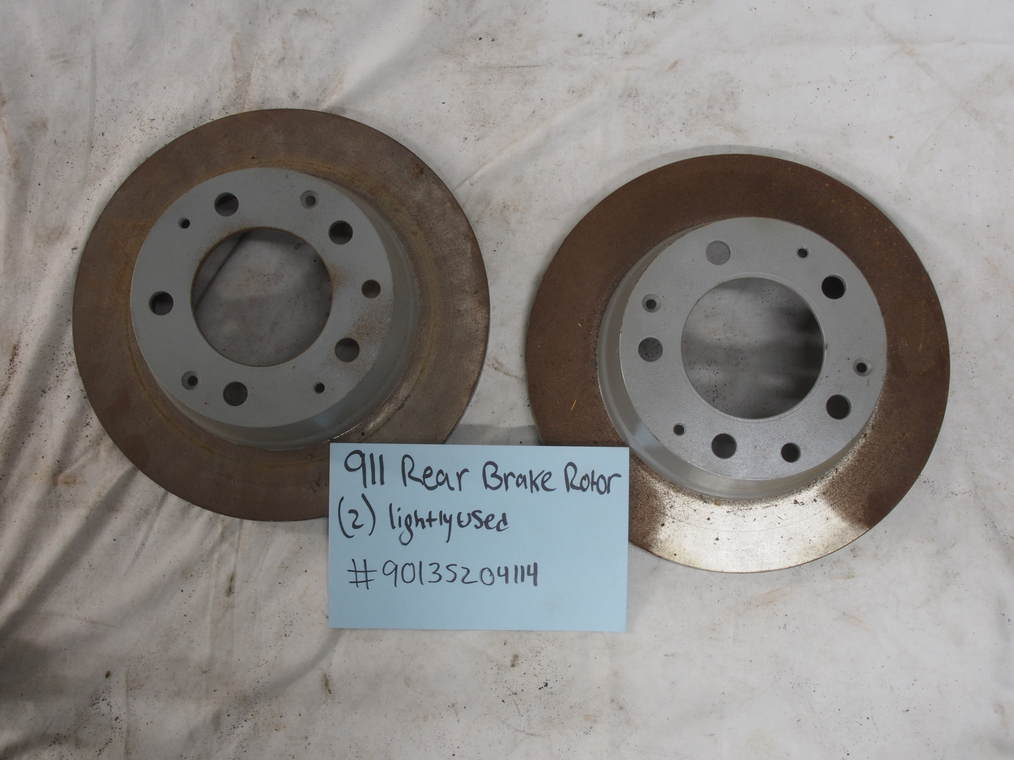 911 rear brake rotor (2) lightly used #90135204114
