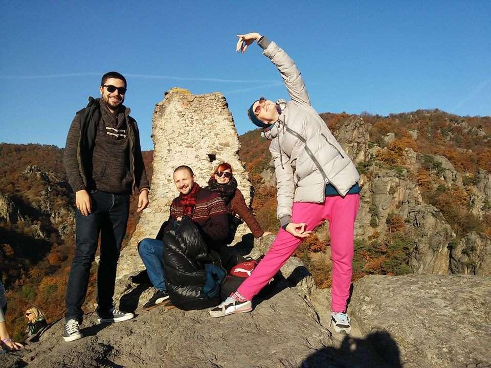 Tourists at Dürnstein castle
